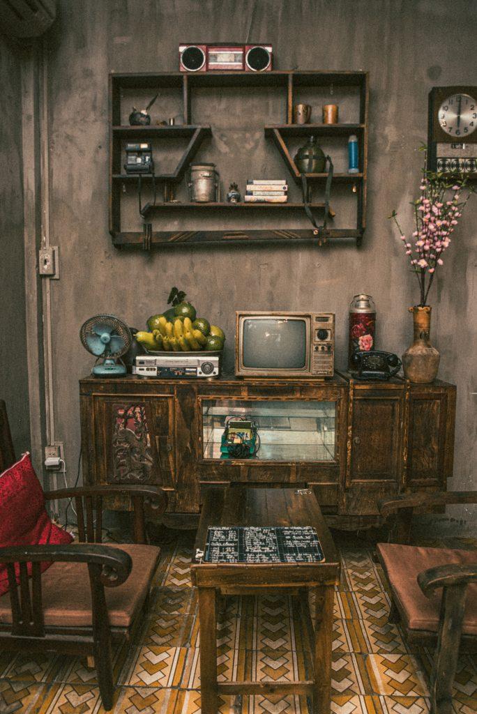 phòng khách gia đình những năm 70 - 80